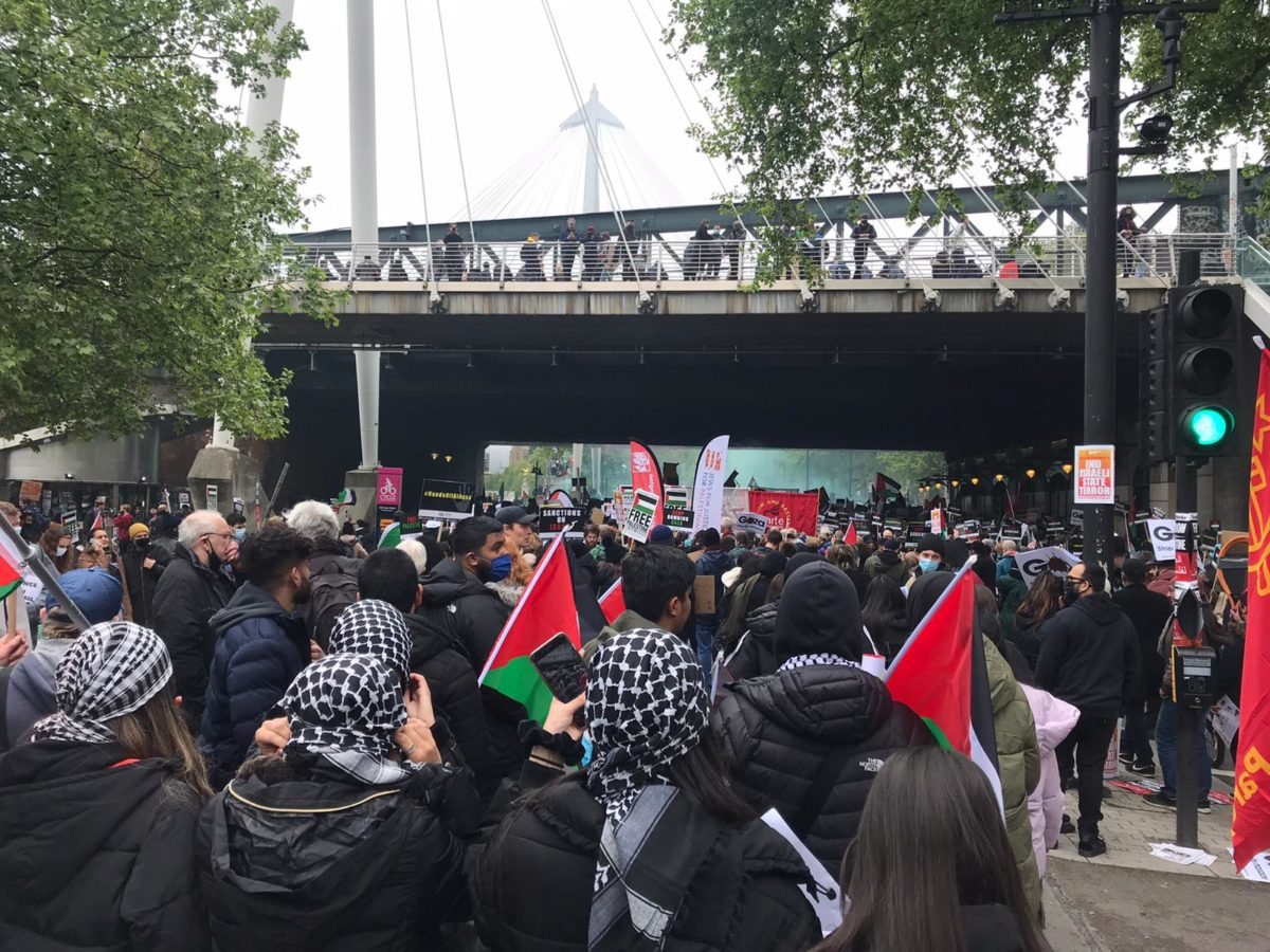 National Demonstration for Palestine in London 2021.